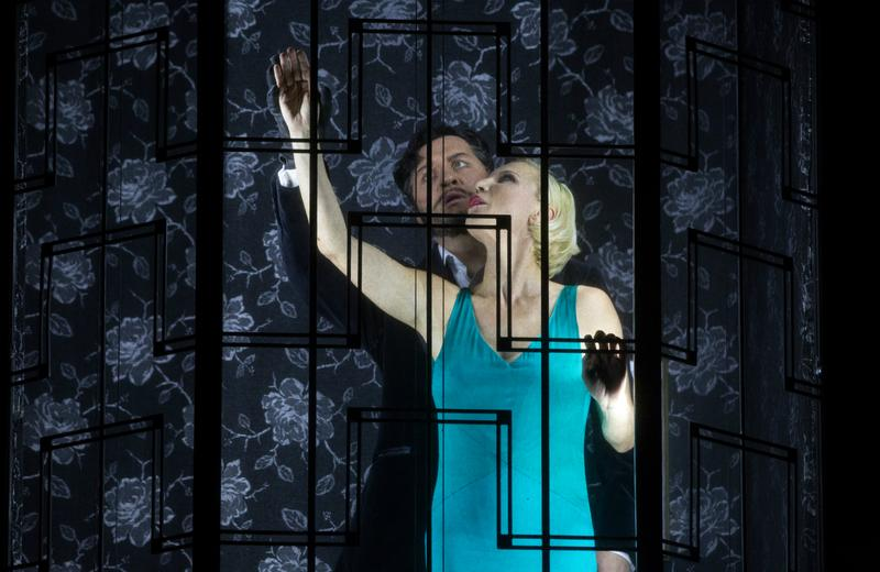 Mikhail Petrenko as Bluebeard and Nadja Michael as Judith in Bartók's Bluebeard's Castle.