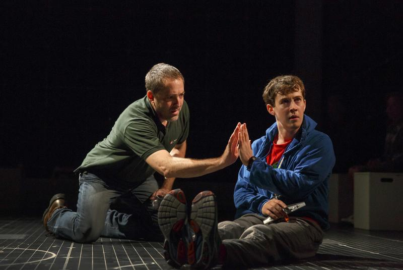 Ian Barford and Alex Sharp in the National Theatre production of 'The Curious Incident of the Dog in the Night Time.'