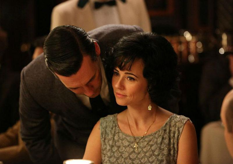 Don Draper (Jon Hamm) and Sylvia Rosen (Linda Cardellini) in Season 6, Episode 3 of AMC's 'Mad Men'