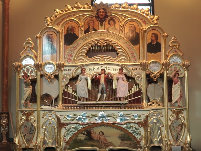 The 1905 Marenghi Organ used for the performance