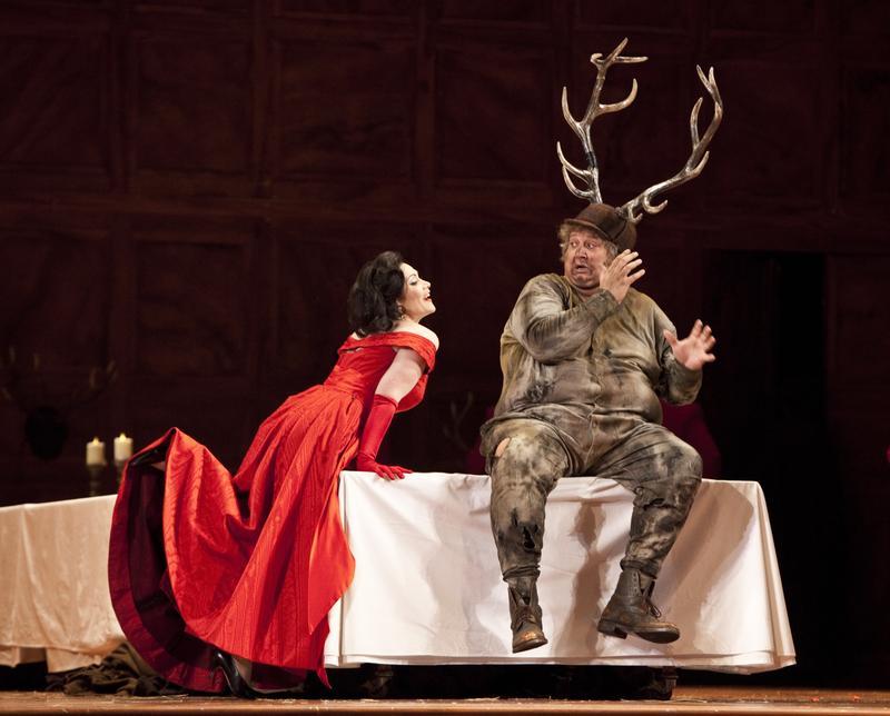 Verdi's <em>Falstaff</em> from La Scala in Milan starring baritone Ambrogio Maestri in the title role.