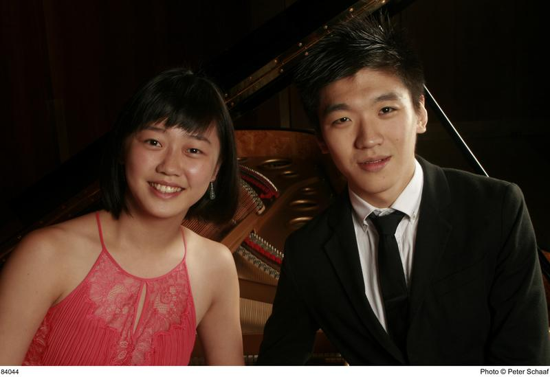 Pianists Fei-Fei Dong and Yunqing Zhou.