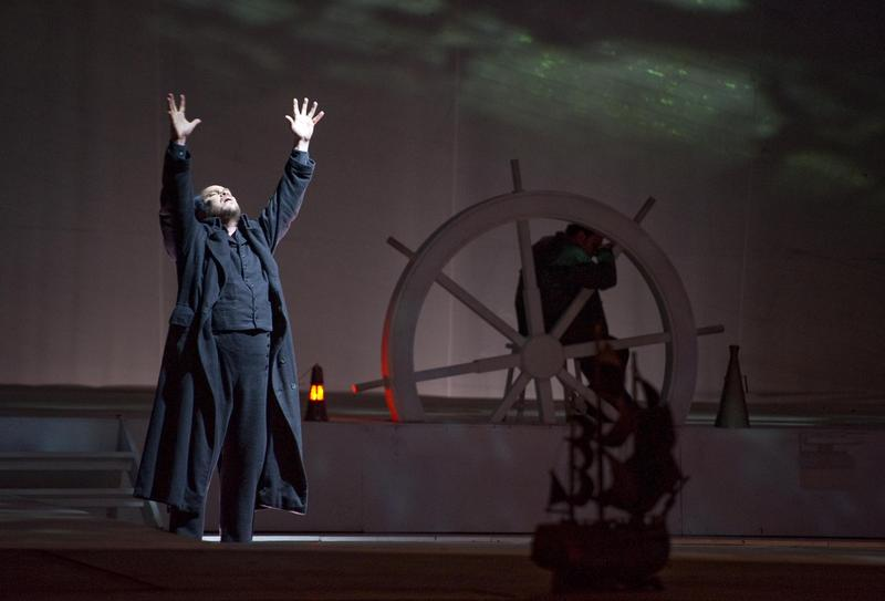 Juha Uusitalo as Dutchman in a production of Wagner's <em>The Flying Dutchman</em> from Naples.