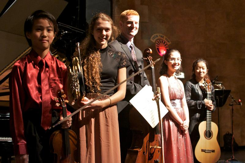 This week's performers (left to right): Kevin Zhu, Kaitlyn Resler, Abraham Feder, Nadia Azzi and Jennifer Kim.
