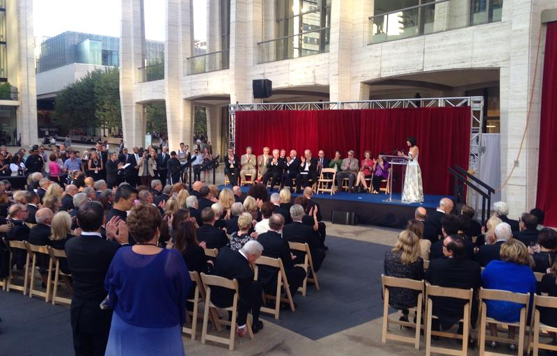The renaming ceremony, in which Avery Fisher Hall became David Geffen Hall
