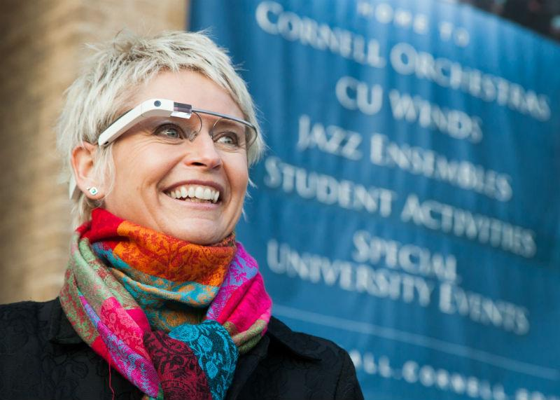 Conductor Cynthia Johnston Turner wears her Google Glass
