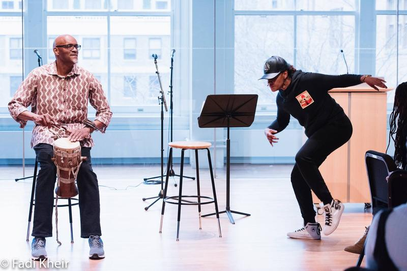 Gregory Hodge performs together with his daughter, the poet, playwright, and educator Chinaka Hodge, at the first Create Justice Forum.