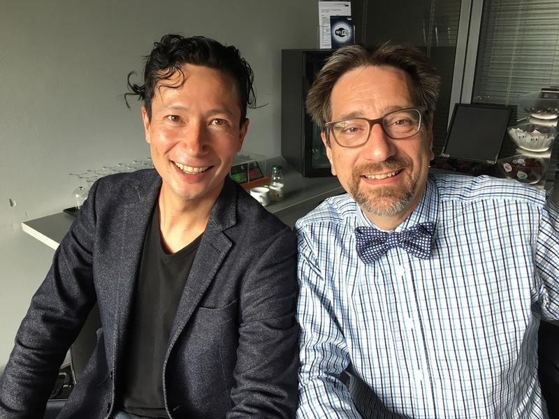 Host Jeffrey Spurgeon with Lucerne Festival Strings artistic Director Daniel Dodds