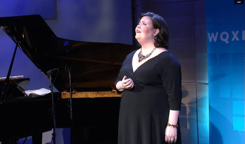 Soprano Jamie Barton singing in The Greene Space on Sept. 3, 2015