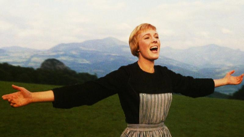 "Julie Andrews as Maria von Trapp in ""The Sound of Music."""