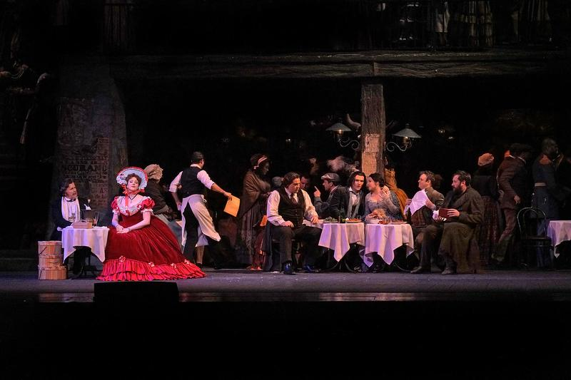 A scene from Act II of Puccini's La Bohème.
