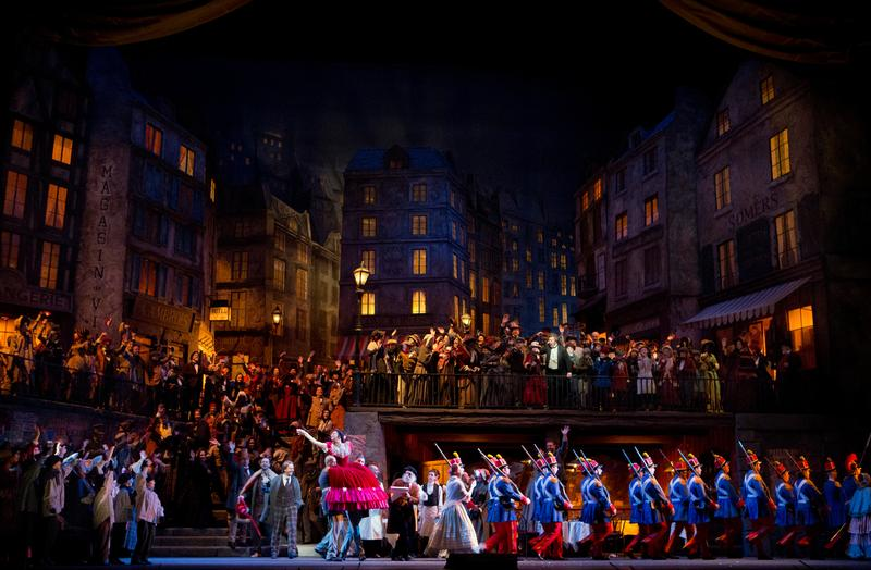 "A scene from Act II of ""La Bohème."""
