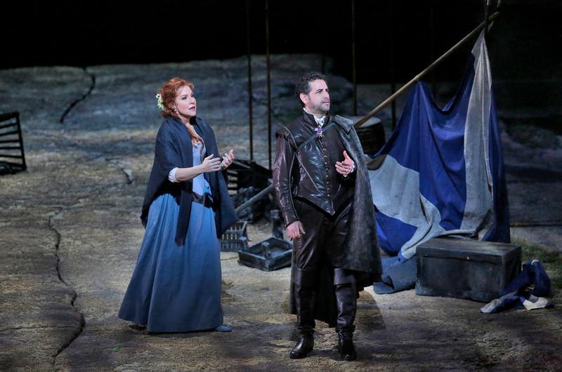 "Joyce DiDonato as Elena and Juan Diego Flórez as Giacomo V in Rossini's ""La Donna del Lago."""