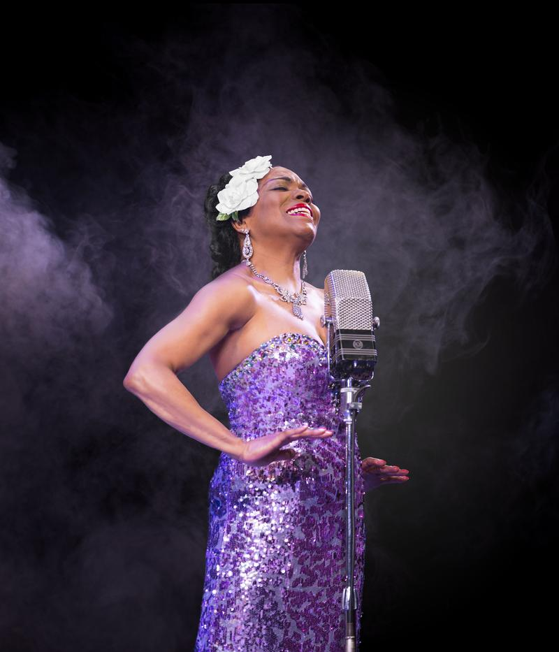 "Dee Dee Bridgewater as Billie Holiday in ""Lady Day"" at the Little Shubert Theatre"