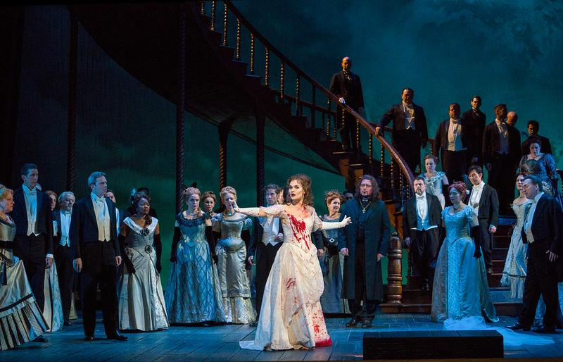"A scene from Act III of Donizetti's ""Lucia di Lammermoor"" with Olga Peretyatko-Mariotti in the title role."