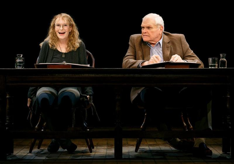 Mia Farrow and Brian Dennehy in 'Love Letters' at The Brooks Atkinson Theatre.