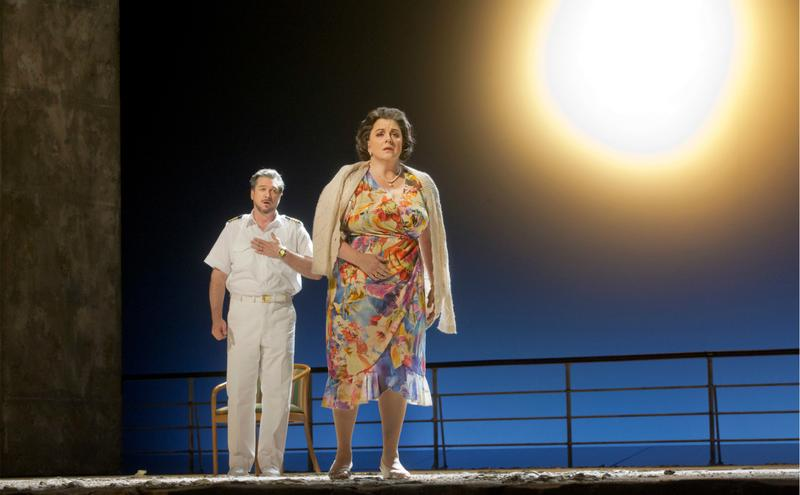 Paulo Szot as The Captain and Michaela Martens as Marilyn Klinghoffer in The Death of Klinghoffer