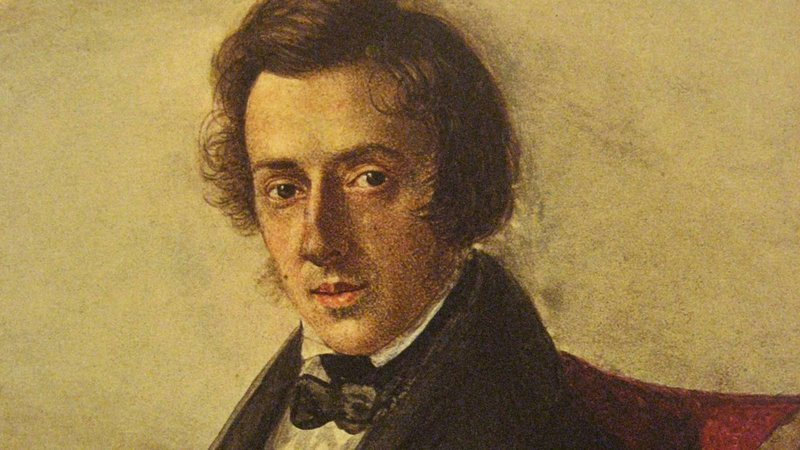 'Portrait of Fryderyk Chopin' by Maria Wodzińska (1836).