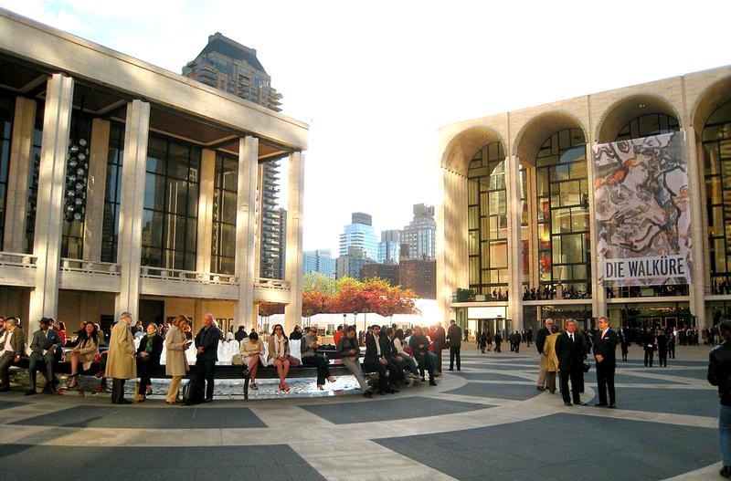 An afternoon on Lincoln Center Plaza