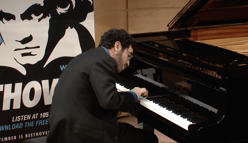 Michael Brown performs in The Greene Space at WQXR in 2011.