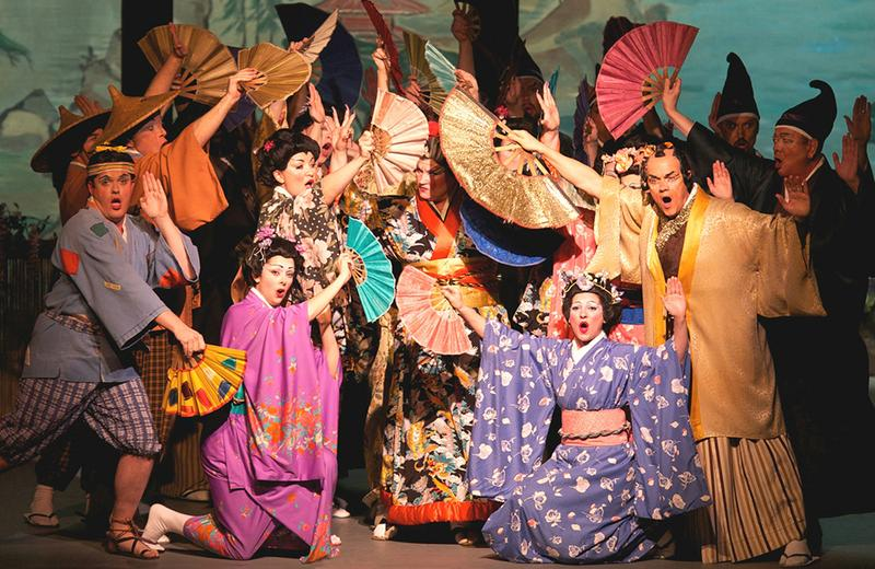 Promotional photo for New York Gilbert & Sullivan Players' production of 'The Mikado'