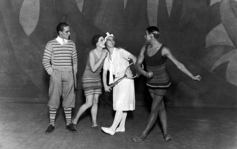 The Diaghilev Ballet Russe's production of 'Le Train Bleu,' with music by Darius Milhaud