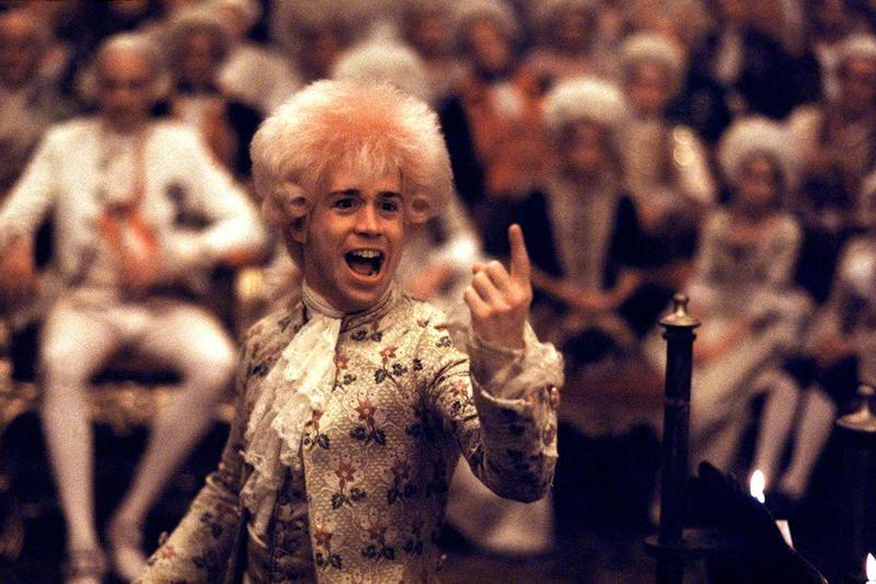 """Tom Hulce as the titular character in 1984's """"Amadeus."""""""