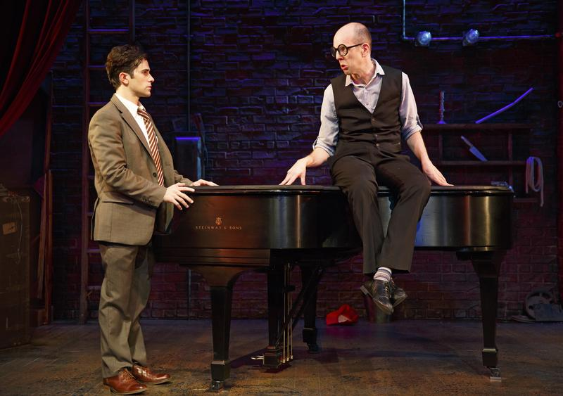Brett Ryback and Jeff Blumenkrantz in <em>Murder For Two</em> at at the McGinn/Cazale Theatre as part of Second Stage Theatre's Uptown series.