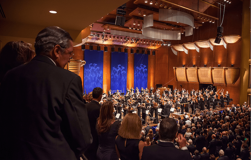 New York Philharmonic performs the 'Star-Spangled Banner' at Avery Fisher Hall in 2012