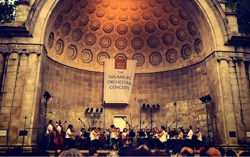 Orpheus Chamber Orchestra at the Naumburg Bandshell in Central Park on July 21, 2015