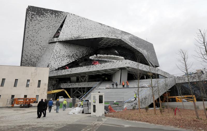 The Philharmonie de Paris, under construction in the Parc de la Villette, in northeast Paris, seen on January 12, 2015.