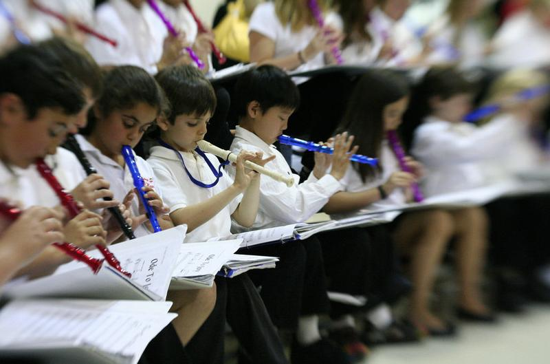 Students give this recorder concert their best shot.