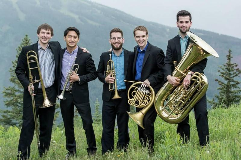 Rendez-Vous Brass members Alex Greene (center) and Ben Darneille (right) died on Monday night in a car accident.
