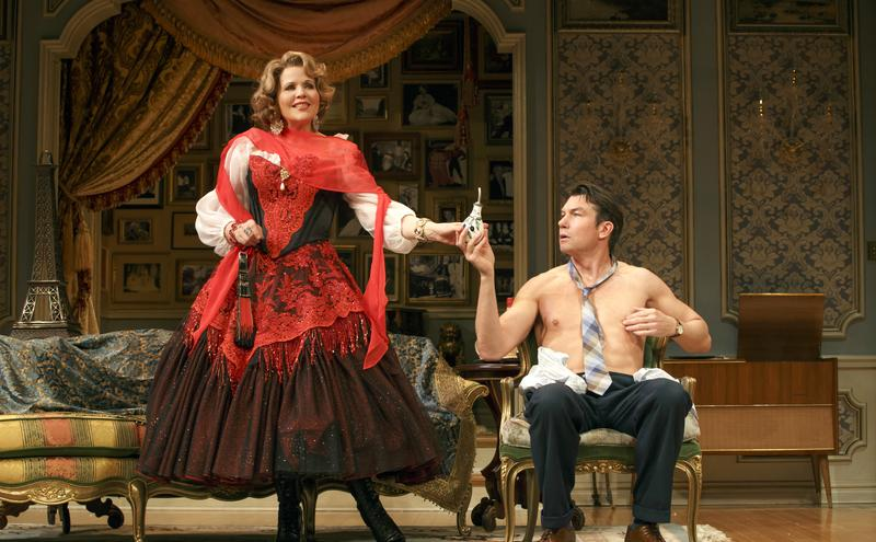 A scene from 'Living on Love' starring Renee Fleming and Douglas Sills at the Longacre Theatre