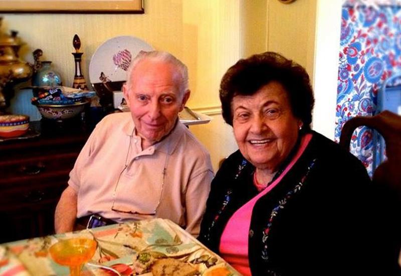 Dick and Bernice Horowitz in their home. Photo courtesy of Sarah Raina Horowitz.