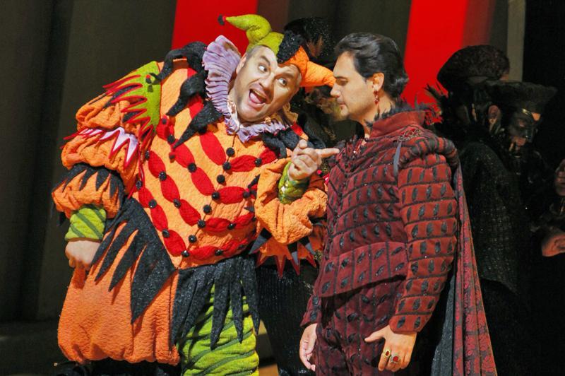 Željko Lučić (Rigoletto) and Francesco Demuro (Duke of Mantua) in Verdi's 'Rigoletto'