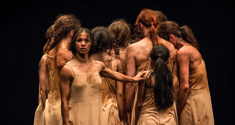 The dance company Tanztheater Wuppertal Pina Bausch performs 'The Rite of Spring.'
