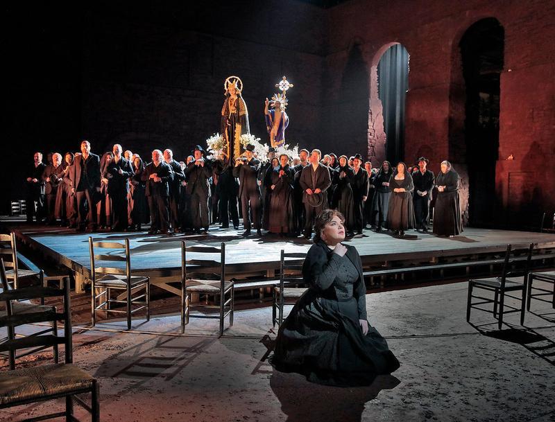 "Ekaterina Semenchuk as Santuzza in a scene from Mascagni's ""Cavalleria Rusticana."""