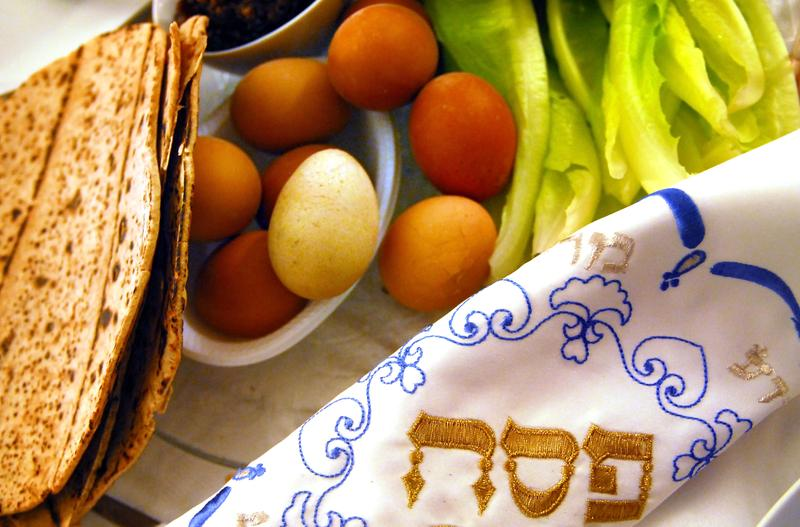 A traditional Seder table.