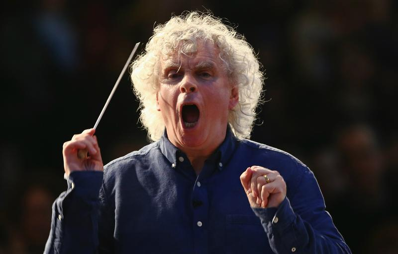 Simon Rattle, newly named music director of the London Symphony Orchestra
