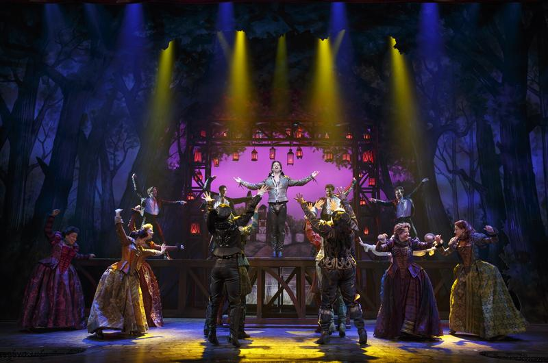 Christian Borle (center, top) and the cast of 'Something Rotten!'