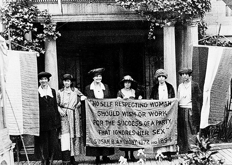 Officers of the National Woman's Party push for the ratification of the 19th Amendment in 1920.