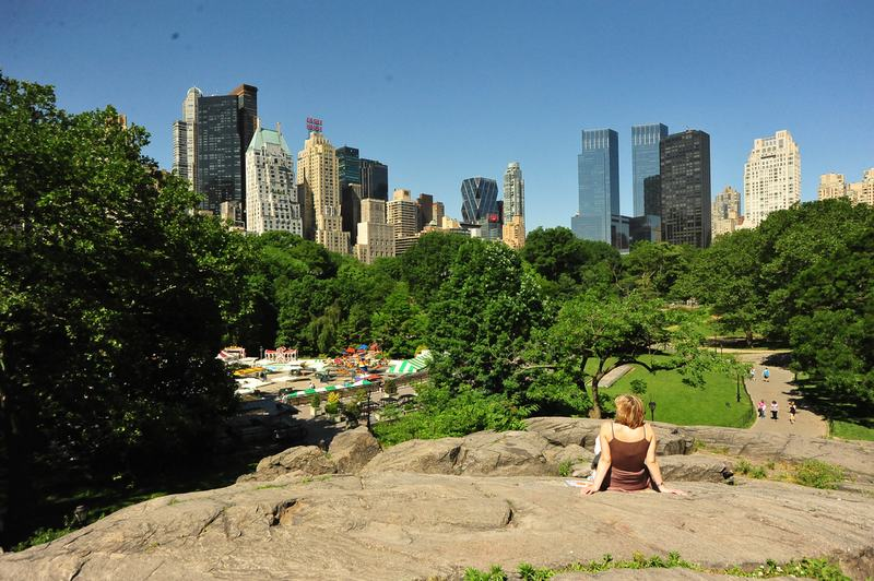 Summer in Central Park.