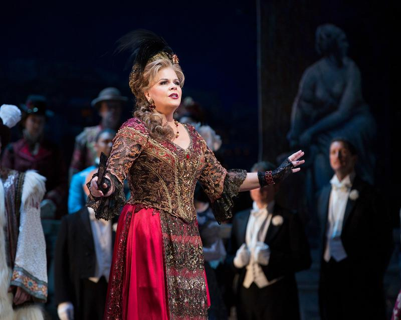 "Susan Graham as Hanna in Lehár's ""The Merry Widow."""