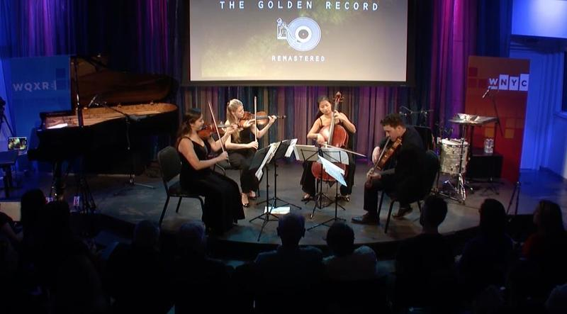 The Ulysses Quartet performs many of the songs included in the 'Golden Record' aboard the 1977 Voyager spacecraft.