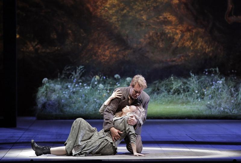 Brandon Jovanovich as Siegmund and Elisabet Strid as Sieglinde in Wagner's 'Die Valkure.'