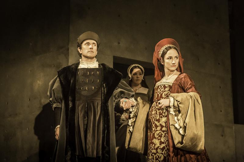 Ben Miles as Thomas Cromwell and Lydia Leonard as Anne Boleyn in 'Wolf Hall'