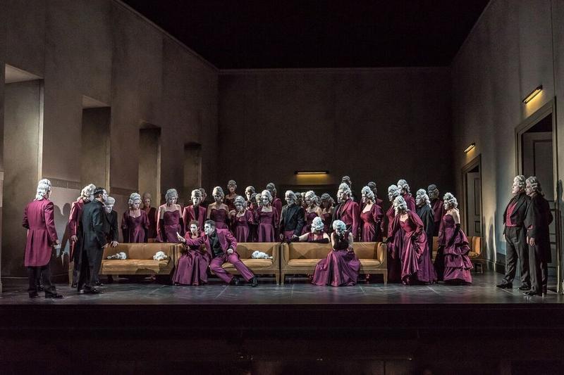 A scene from Verdi's 'Un Ballo in Maschera'