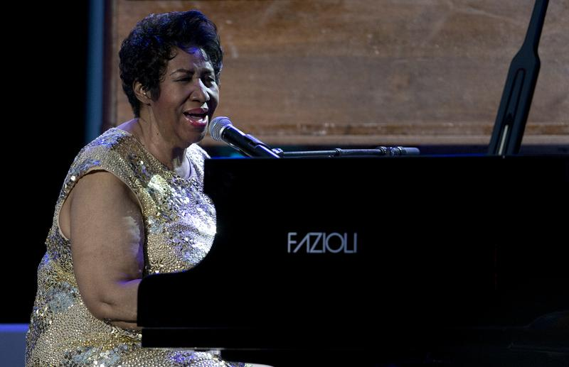 Aretha Franklin in performance at the 2016 International Jazz Day Concert on the South Lawn of the White House.