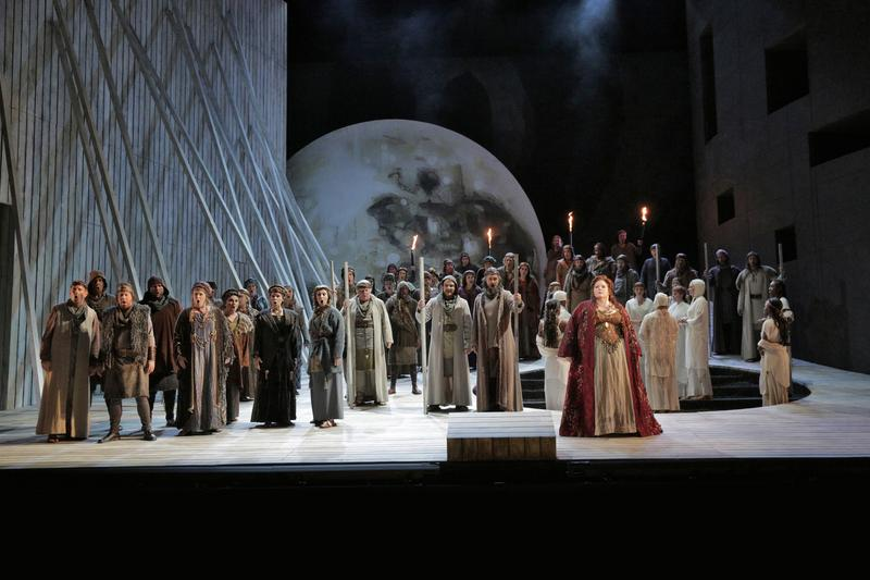 A scene from the LA Opera'a production of Norma.